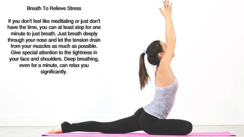 Three Ways To Relieve Stress