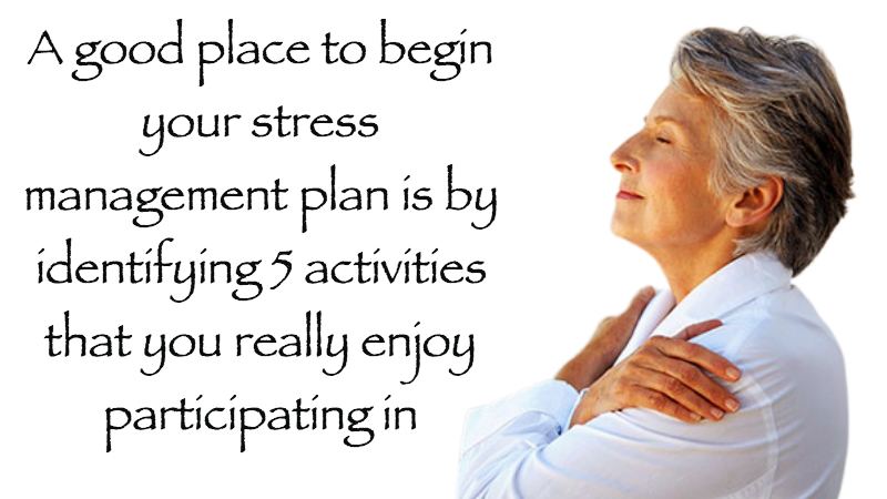 Developing A Stress Management Plan